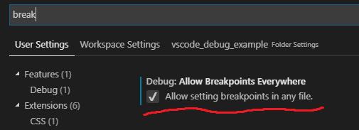 Breakpoint settings
